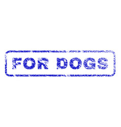 For dogs rubber stamp vector