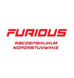furious letters set dynamic bold font elegant vector image