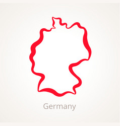 Germany - outline map vector
