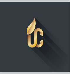 Gold on dark upper class logo vector
