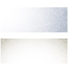 Grey technology banners vector image