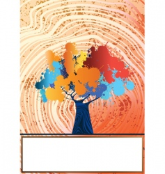 grungy tree vector image