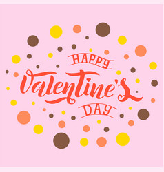 happy valentines day text vector image