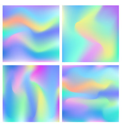 Holographic abstract background set vector