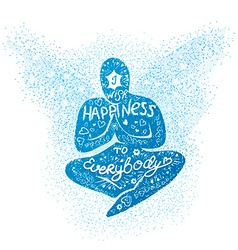 I wish happiness to everybody vector image