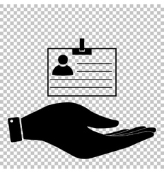 Id card sign Flat style icon vector image