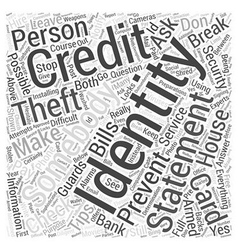 Identity theft prevention Word Cloud Concept vector