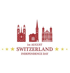 Independence Day Switzerland vector image