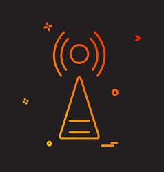 Infrared icon design vector