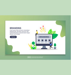 landing page template branding modern flat vector image