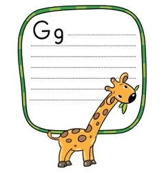 Little funny giraffe for ABC Alphabet G vector