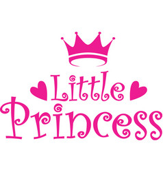 Little princess label vector