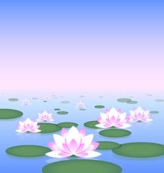 Lotus pond vector image
