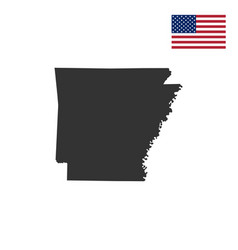 map us state arkansas vector image