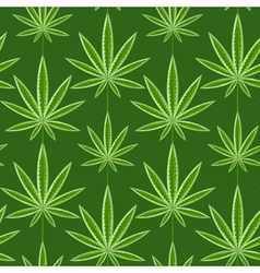 Marijuana background seamless patterns vector image