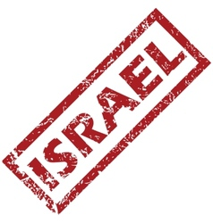 New Israel rubber stamp vector image