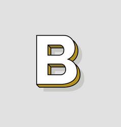 pop art logo letter b vector image