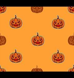Pumpkin head pattern vector