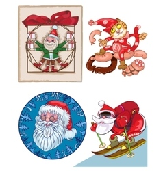 Santa a mix of separate pictures vector