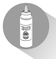 sauce bottle vector image vector image