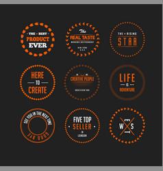 set of circle vintage modern retro badges vector image