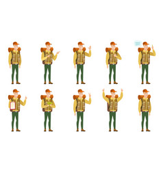Set of traveler characters vector
