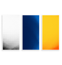 set stylish halftone banners set design vector image