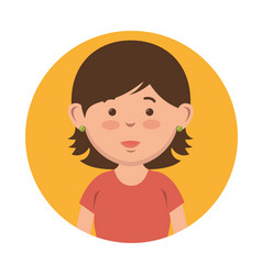 Short-haired girl icon vector