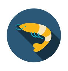 shrimp icon prawn summer vacation vector image