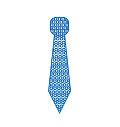 silhouette elegant tie to use in special day vector image