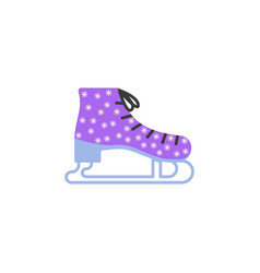 skates winter color icon element of christmas and vector image