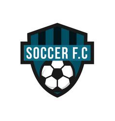 Soccer football club logo template design vector