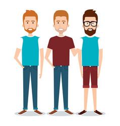 Standing people set vector