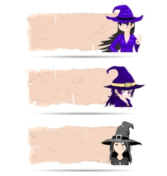 Stickers Halloween witch vector image