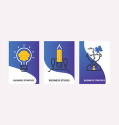 strategy concept business vector image