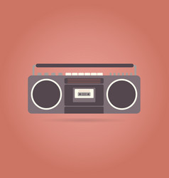 tape recorder flat icon vector image