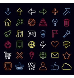 technology icons and signs vector image