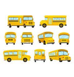 The set of of nine yellow school vector