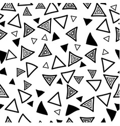 triangle seamless doodle style pattern on white vector image