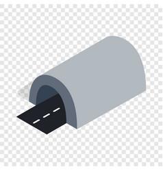 Tunnel isometric icon vector
