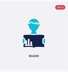 two color reader icon from business concept vector image