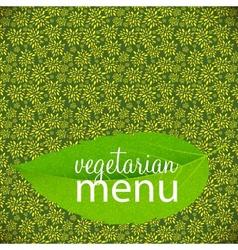 Vegetarian Menu Template vector