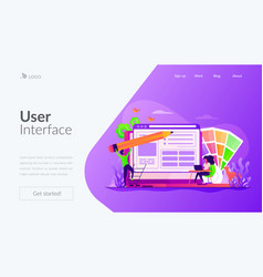 Web design landing page template vector