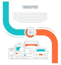 website banner and landing page transport vector image