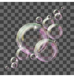 Abstract background with transparent bubbles vector image