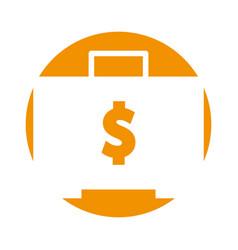 Briefcase with money symbol vector