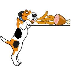 cartoon fox terrier vector image vector image