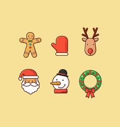 Christmas icons 2 flatten vector
