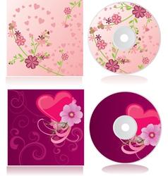 flowers discs vector image