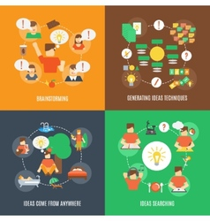 Ideas Icons Flat vector image vector image